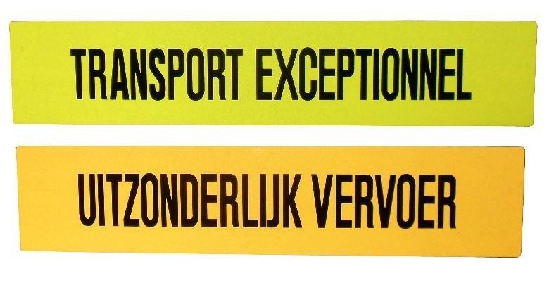 uitzonderlijk vervoer signs