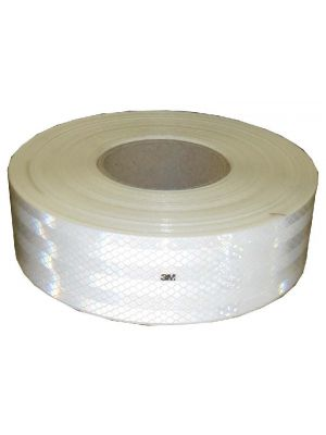 Reflectie Tape Wit 50mtr.ece 104